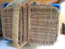 Wicker cane old fashioned picnic basket Petersham Marrickville Area Preview