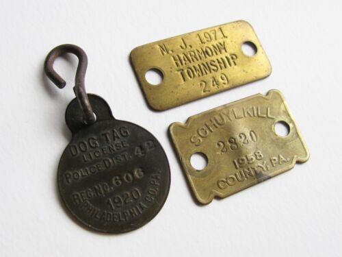 Dog Tag License Lot 1920 PHILADELPHIA 1958 Schuylkill County PA 1971 Harmony NJ