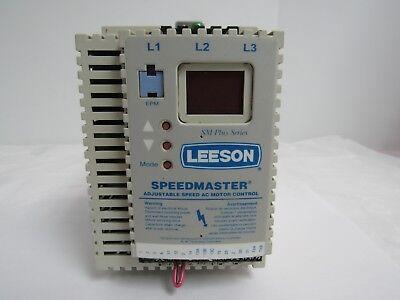 Leeson Speedmaster Sm Plus Series 1774447.00 Adjustable Speed Ac Motor Control