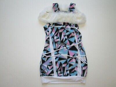 Rubies girls white pink blue fleece Halloween Costume Dress sz M ~ 6-8
