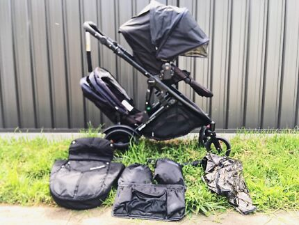 Strider Compact Double Pram with Second Seat
