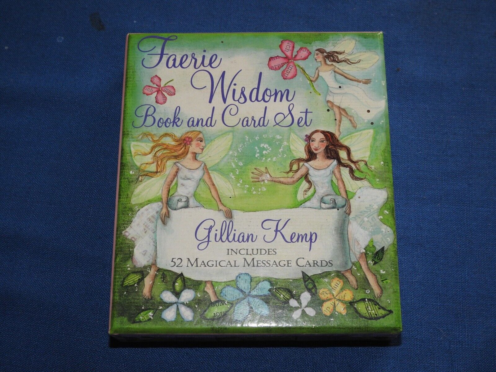 Faerie Wisdom Book And Card Set Gillian Kemp 52 Cards And Guidebook - $9.99