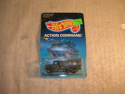 Vintage 1986 Hot Wheels Action Command Troop Convoy Sealed on Card !!