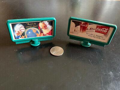 "Coca-Cola vintage mini-billboard, 3"", original owner, unique for collectors"