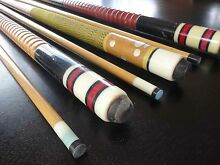 Pool Billiards Cue Sticks (6) Wandana Heights Geelong City Preview