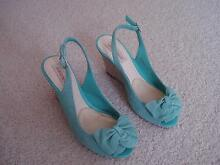 Diana Ferrari mint colour size 6 wedge shoes with bow on front Marsfield Ryde Area Preview