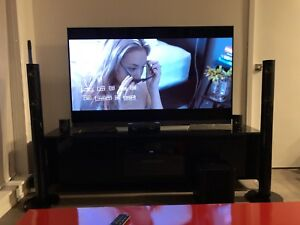 Super 65 OLED TV LG E7 with a sound bar and callibration.
