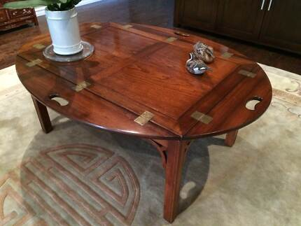 Beautiful Unique Mahogany Vintage Butler Table Coffee Table The Vines Swan Area Preview
