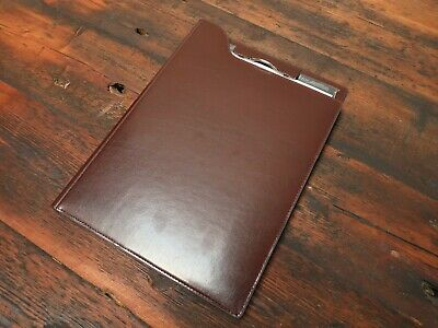 Leather Notepad File Folder Document Holder Business Filing A4 Letter Size