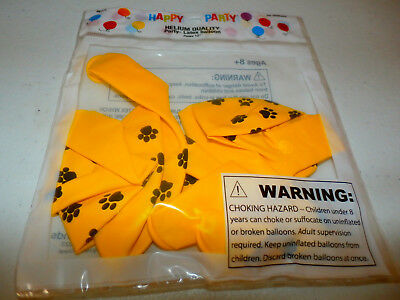 6 Yellow Paw Print Puppy Dog 12