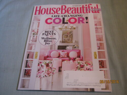 HOUSE BEAUTIFUL MAGAZINE September 2016 LIFE CHANGING COLOR Best Paints for Joy