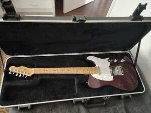 1998 American Fender telecaster (white and dark purple)