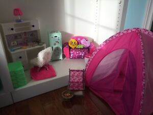Lot of doll furniture and accessories for American Girl Dolls