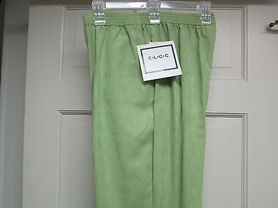 Sm Pull Green - Green Sueded Pull-On Pants by ELCC, Size Small, NWT
