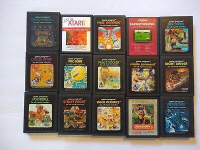 Lot Of 15 Different Atari 2600 Games Pac Man Yars' Revenge Missle Command