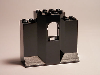 Lego Legos   Set Of 2 New Castle Turret Wall Panels 3X8x6 With Arch Window Black