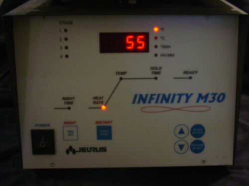 JELRUS INFINITY M-30 DENTAL JEWELRY BURN-OUT OVEN W/FLASKS AND SPRUE BASES