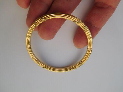 Rare French Art Nouveau 1900 18K Gold Unity Strength Solidarity Bracelet Bangle