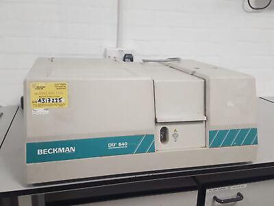 Beckman Du-640 Uv-vis Spectrophotometer Lab