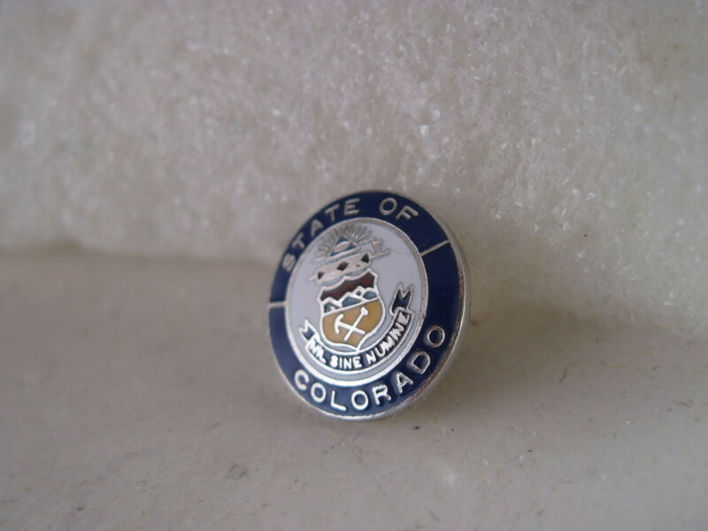 Colorado    State Seal cloisonne   pin