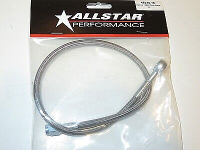 Braided Stainless Steel Brake Line 18 3 An Straight End w 10mm Banjo Fitting