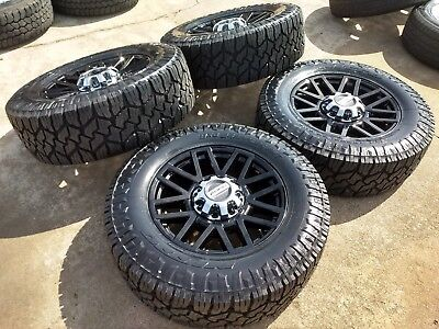 """20"""" Ford F-250 F-350 BLACK OEM rims wheels 35"""" NITTO tires 2015 2016 2017 2018, used for sale  Houston"""