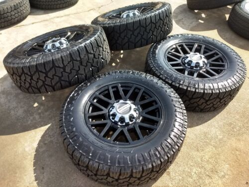 "20"" Ford F-250 F-350 Black Oem Rims Wheels 35"" Nitto Tires 2015 2016 2017 2018"