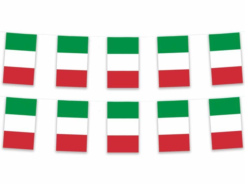 15m Polyester Italy Bunting Pennant Banner Italian Europe Football Sport Italia