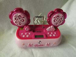 Awesome BARBIE AM/FM clock radio with alarm and iPod dock