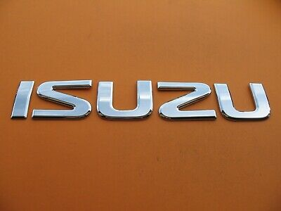 ISUZU BOX TRUCK PICK UP FRONT CHROME EMBLEM LOGO BADGE SIGN SYMBOL LETTERS A9160
