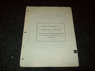 Wagner 90 Powr-ho Ford Naa 600 800 Ferguson 35 Oliver 55 Case 310 Parts List