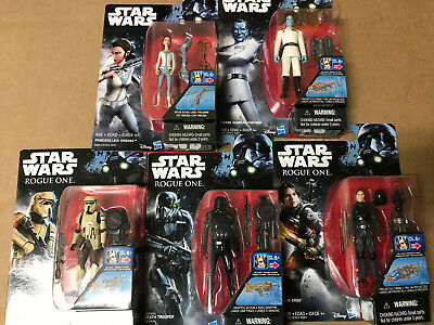 """NEW STAR WARS ROGUE ONE 3.75"""" FIGURE DISNEY HASBRO CHOOSE YOUR CHARACTER"""