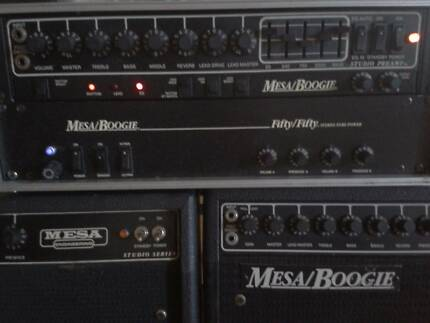 MESA BOOGIE STUDIO PREAMP AND 50 50 POWER AMP ALL VALVE