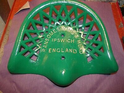 Ransomes Simms Rare Vintage Cast Iron Tractor Implement Seat Antique