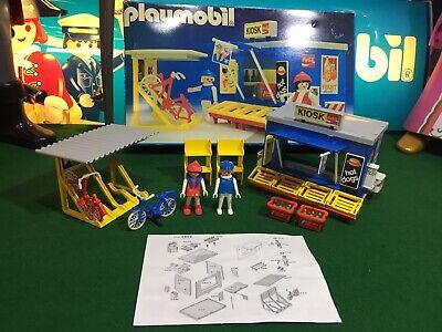 Playmobil 3418 Kiosk Vintage & Figures**Amazing Condition**