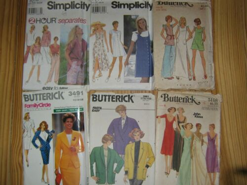 Simplicity & Butterick Sewing patterns 9518, 9614, 3082, 3491, 3981, 5118.