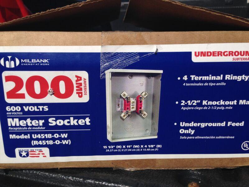 Milbank U4518-O-W Ring 3-Wire Single Position Meter Socket
