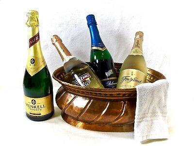 alter Champagner/Sektkühler Eiseimer Weinkühler 50er Kupfer 1,25kg-Dachbodenfund