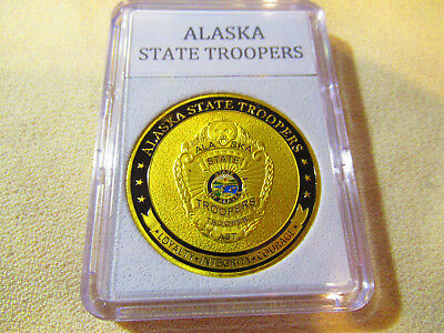 Alaska State Coin - ALASKA STATE TROOPERS Challenge Coin