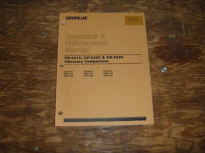 Cat Caterpillar Cs-531c Vibratory Compactor Operator Maintenance Manual 5zn1-