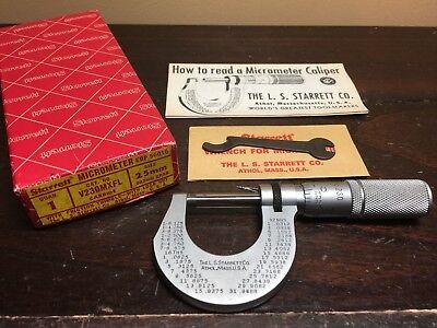 L S  Starrett 1  Micrometer Number 230