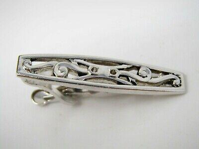 Vintage Krawattennadel Clip für Herren: Sehen durch Kostüm Silberfarben