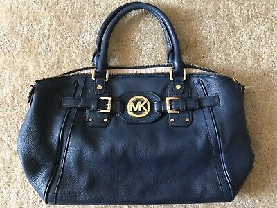 Michael Kors Purse - Navy Pebbled Leather- Excellent Used Condition