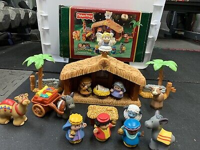 Vintage Fisher Price Little People Christmas Story Nativity Set Tested And Works