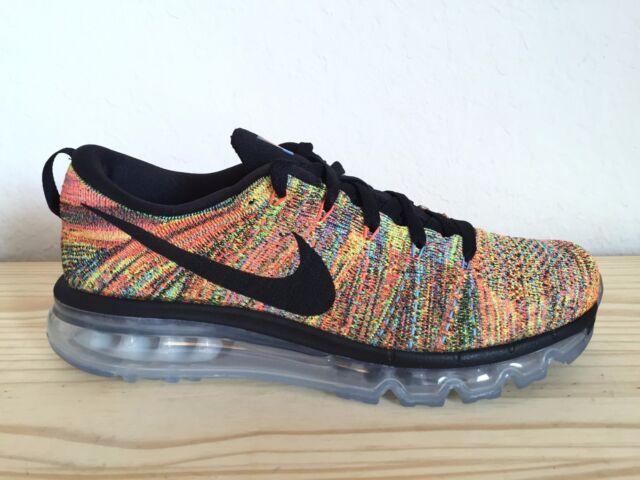 a9d91339b7b8 ... WMNS Nike Flyknit Air Max Multicolor Size 10 Black Chalk Blue Orange  620659-005 Men Shoes  ...