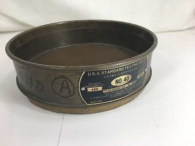 Brass Fisher Scientific No. 40 Usa Standard Testing Sieve 8 - Used