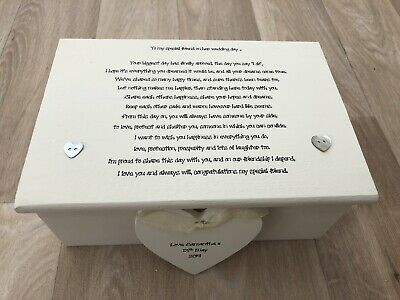 Shabby Personalised Chic Jewellery Box Gift Special Best Friend On Wedding