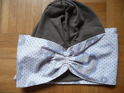 Mütze Chemo Mütze 2 in 1 mit Stirnband - Top Mütze Stirnband