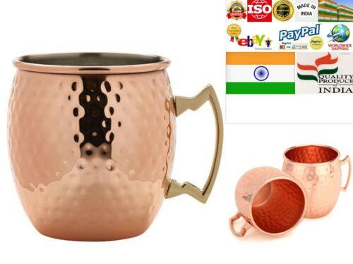 Pure Copper Moscow Mule Mug Cup Tumbler 450ML Water Drinking Bar Wine Health Yog