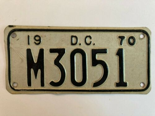 1970 Washington DC Motorcycle License Plate District of Columbia Harley Honda